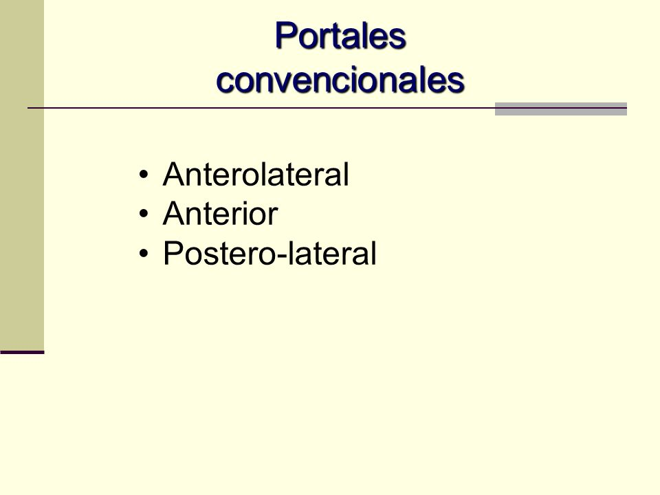 Portales convencionales