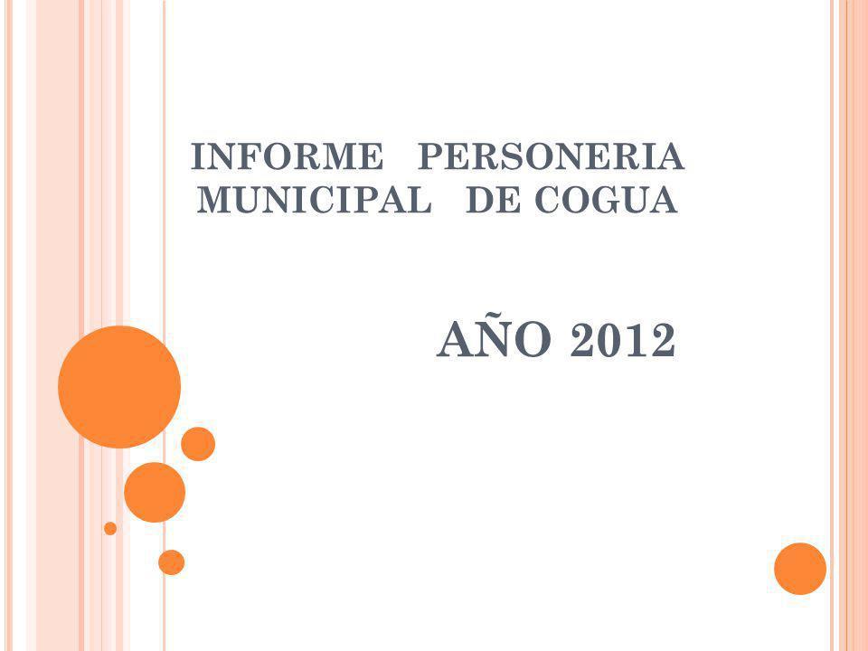 INFORME PERSONERIA MUNICIPAL DE COGUA