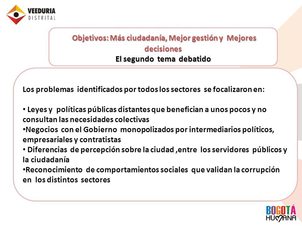 Objetivos: Más ciudadanía, Mejor gestión y Mejores decisiones