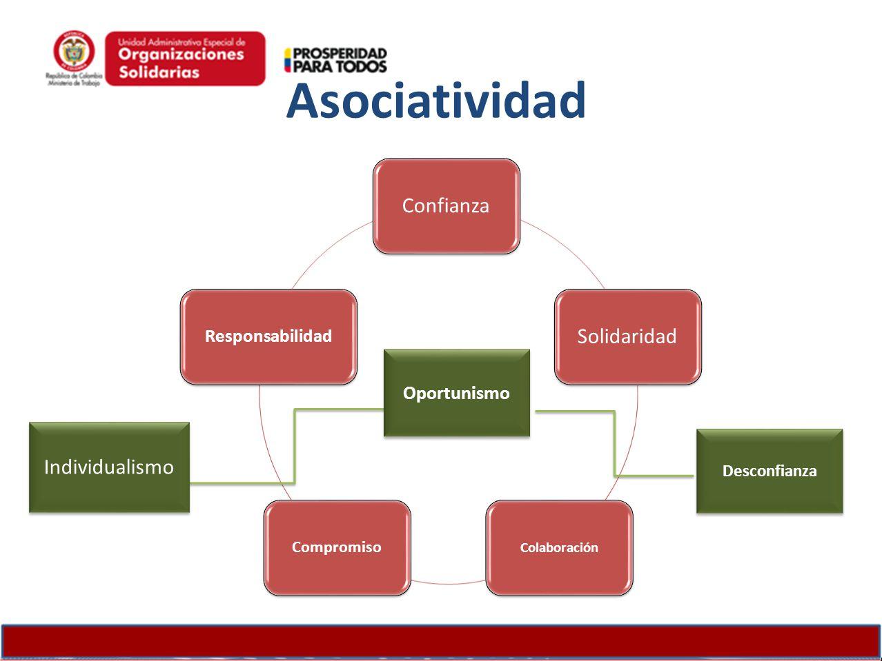 Asociatividad Confianza Solidaridad Individualismo Oportunismo