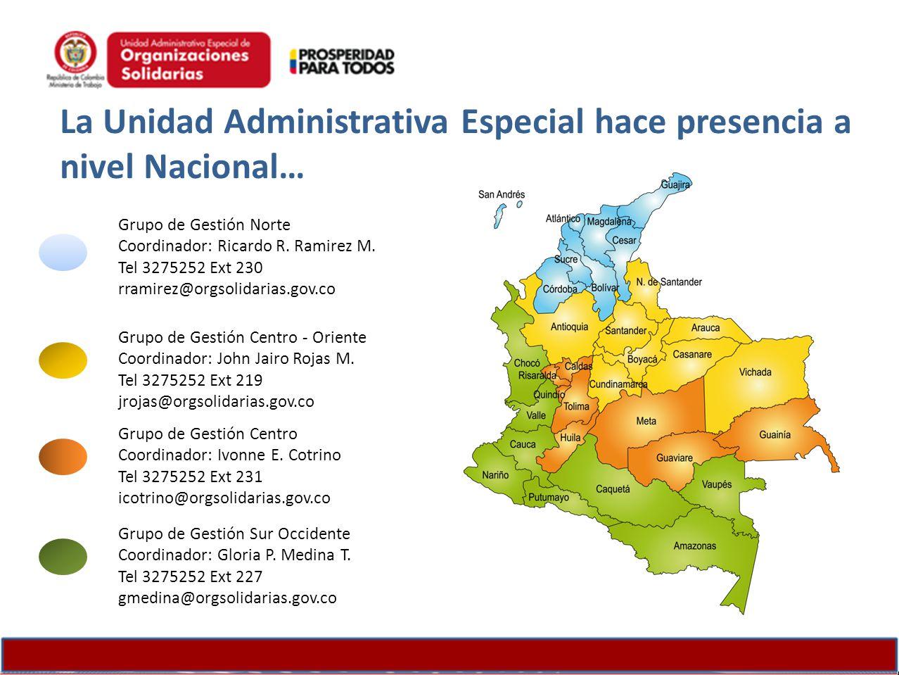 La Unidad Administrativa Especial hace presencia a nivel Nacional…