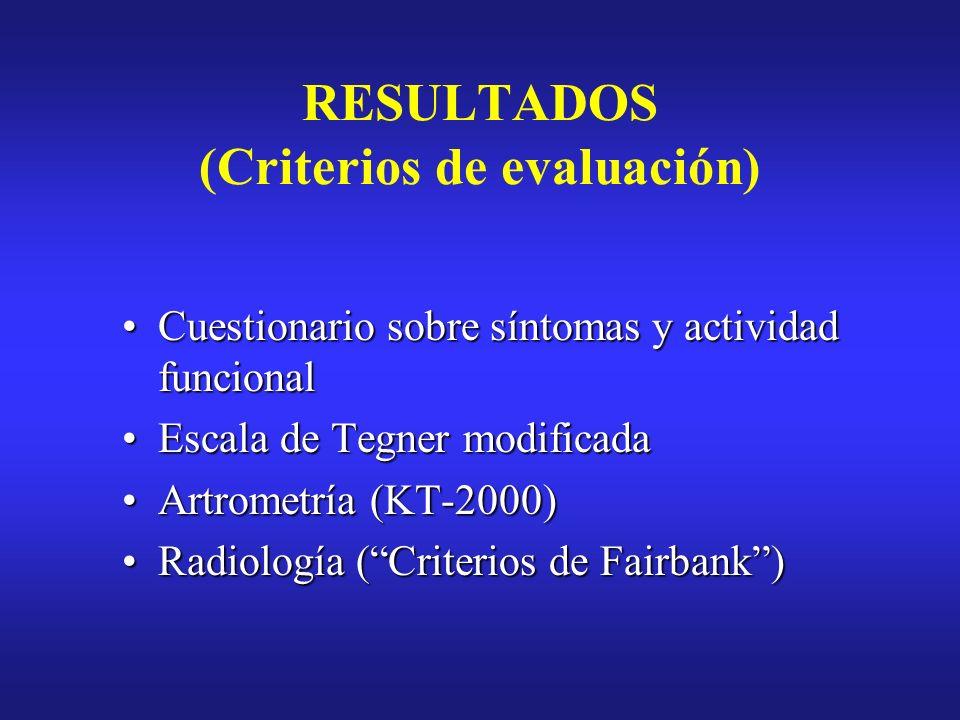 RESULTADOS (Criterios de evaluación)
