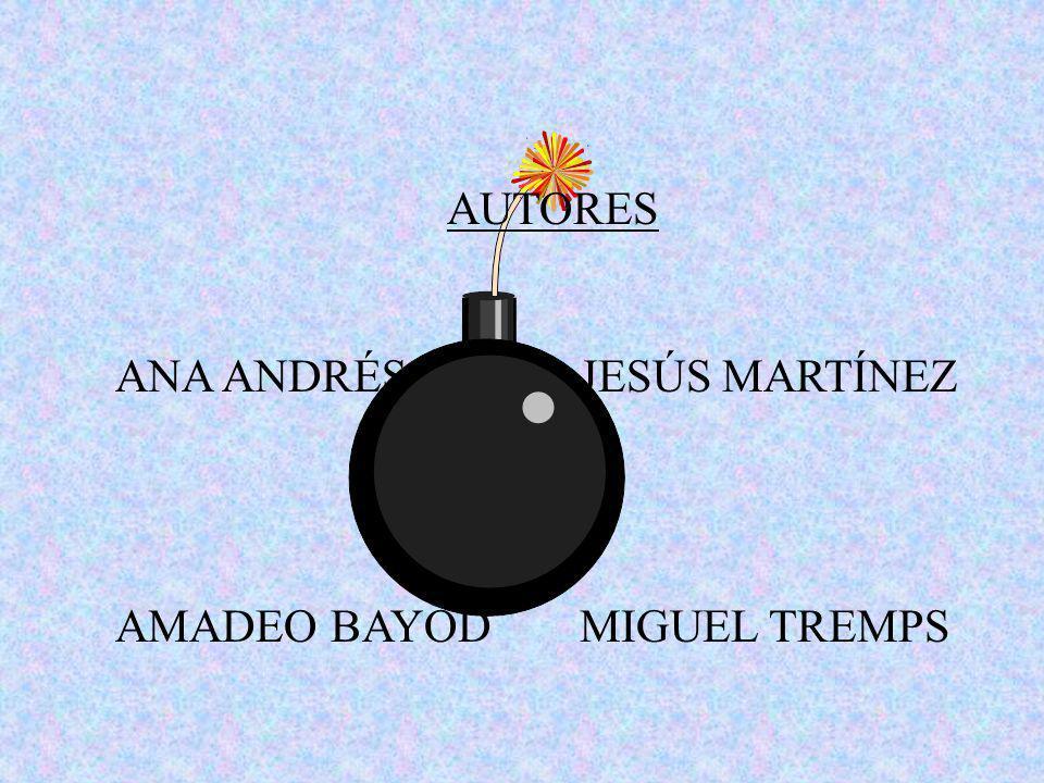 AUTORES ANA ANDRÉS JESÚS MARTÍNEZ AMADEO BAYOD MIGUEL TREMPS
