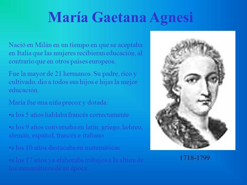 María Gaetana Agnesi