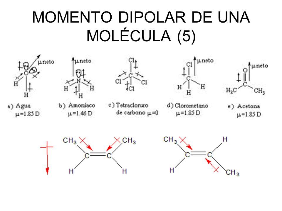 MOMENTO DIPOLAR DE UNA MOLÉCULA (5)