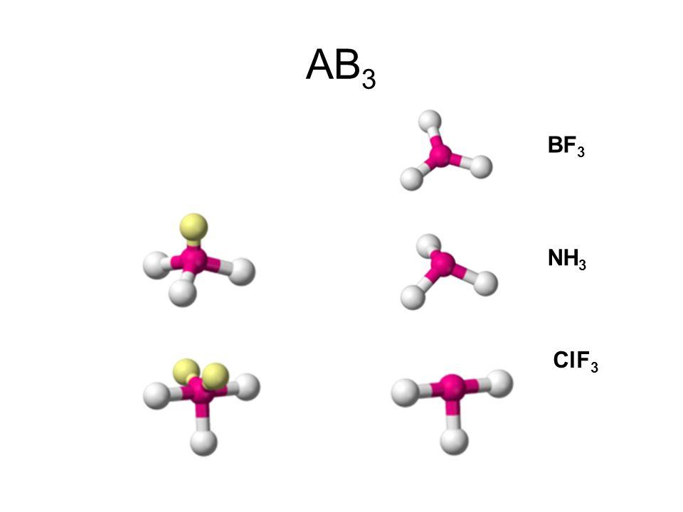 AB3 BF3 NH3 ClF3