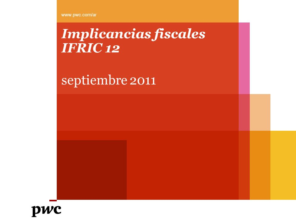 Implicancias fiscales IFRIC 12
