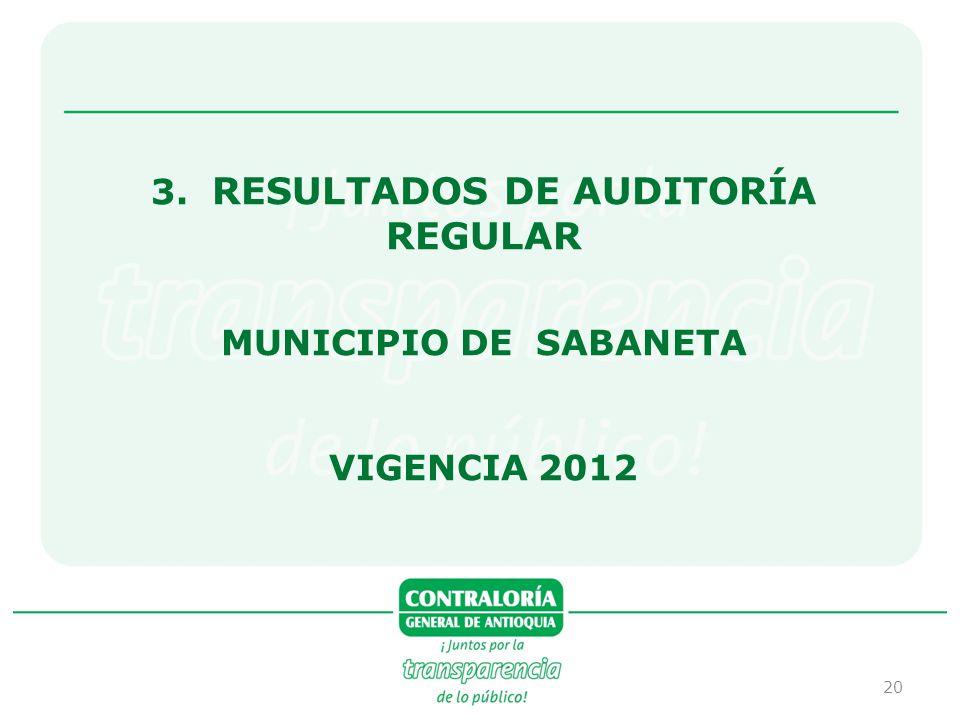 3. RESULTADOS DE AUDITORÍA REGULAR