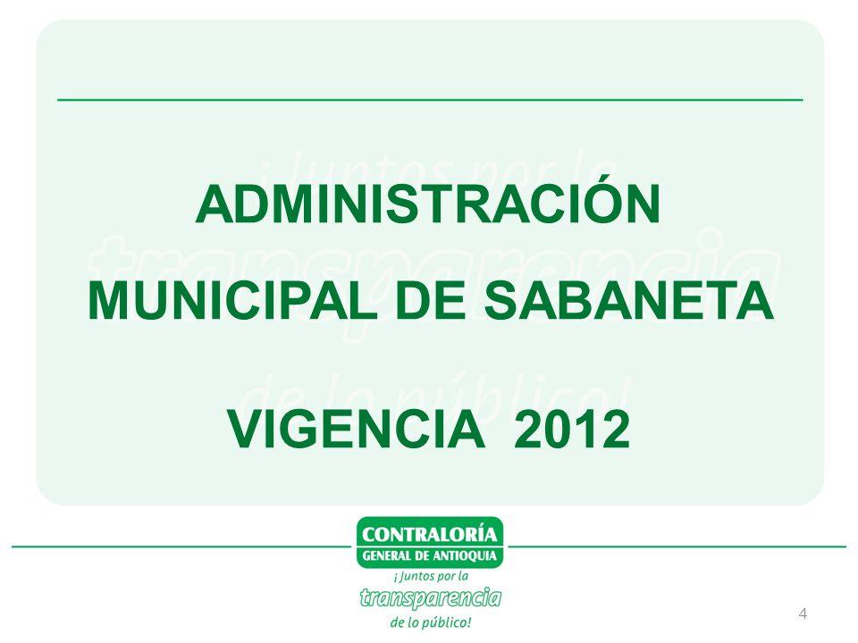 ADMINISTRACIÓN MUNICIPAL DE SABANETA