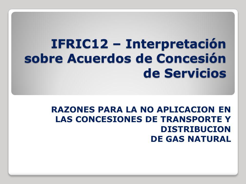 IFRIC12 – Interpretación sobre Acuerdos de Concesión de Servicios