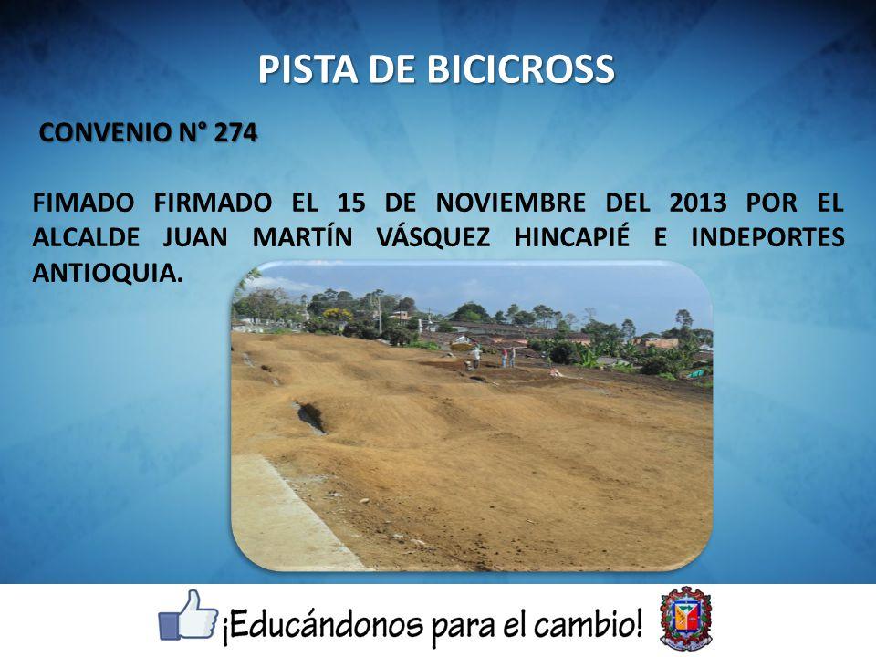 PISTA DE BICICROSS CONVENIO N° 274