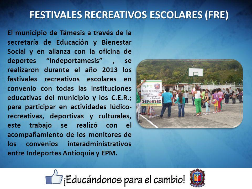 FESTIVALES RECREATIVOS ESCOLARES (FRE)