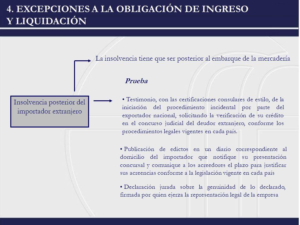 Insolvencia posterior del importador extranjero