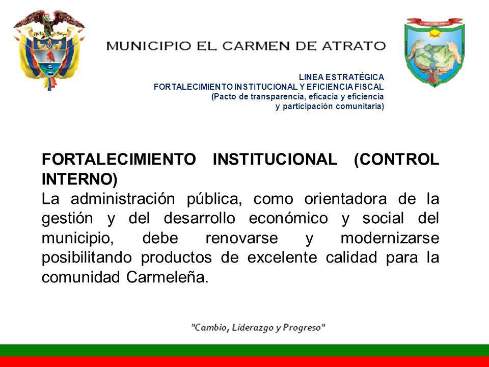 FORTALECIMIENTO INSTITUCIONAL (CONTROL INTERNO)