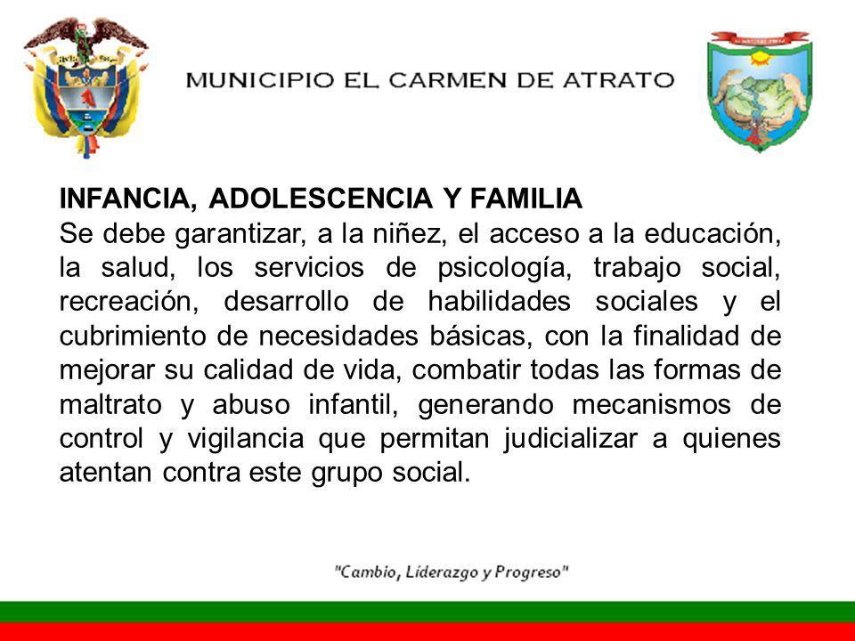 INFANCIA, ADOLESCENCIA Y FAMILIA