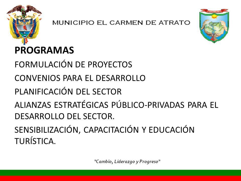 PROGRAMAS FORMULACIÓN DE PROYECTOS CONVENIOS PARA EL DESARROLLO