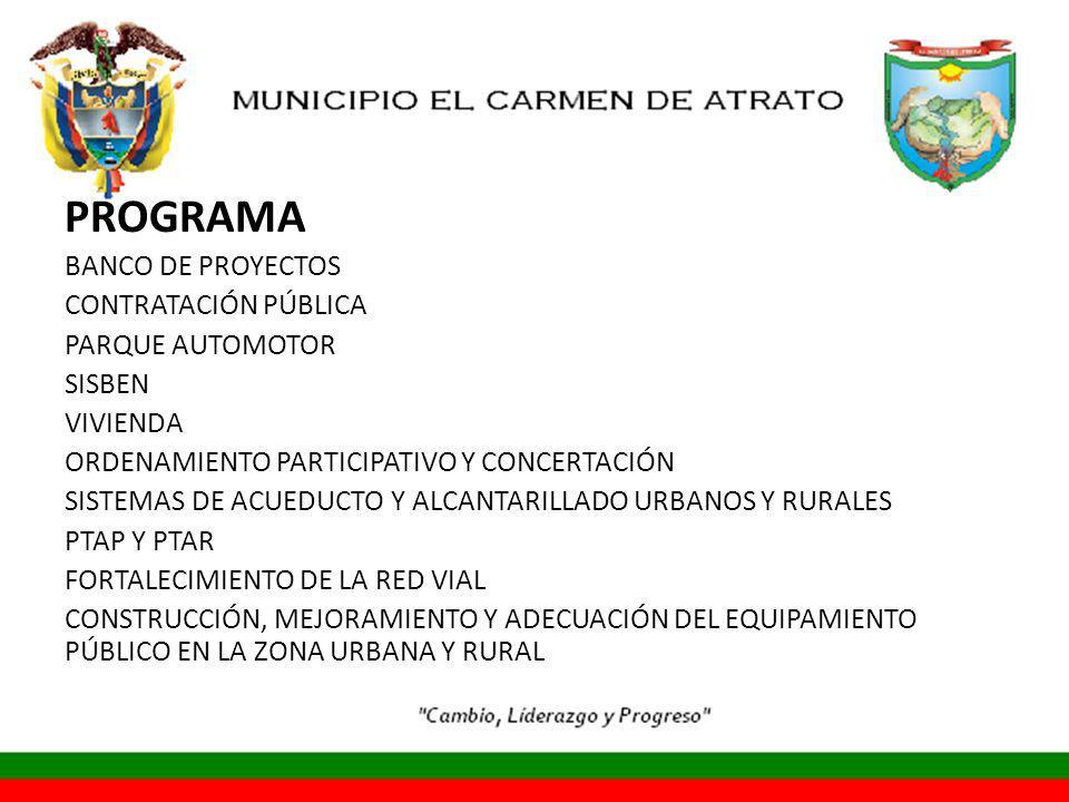 PROGRAMA BANCO DE PROYECTOS CONTRATACIÓN PÚBLICA PARQUE AUTOMOTOR
