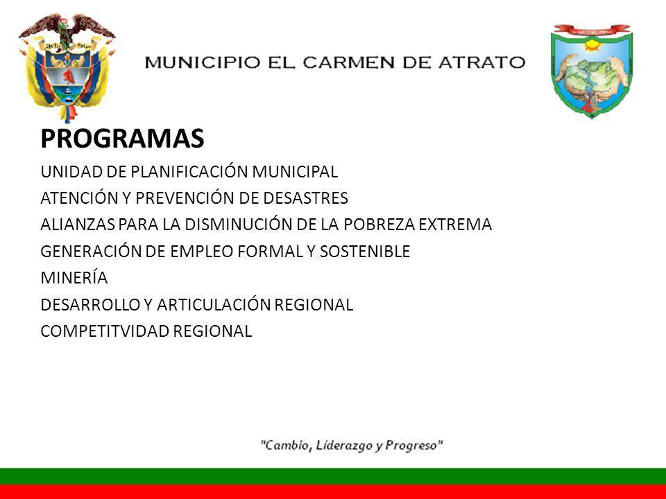 PROGRAMAS UNIDAD DE PLANIFICACIÓN MUNICIPAL