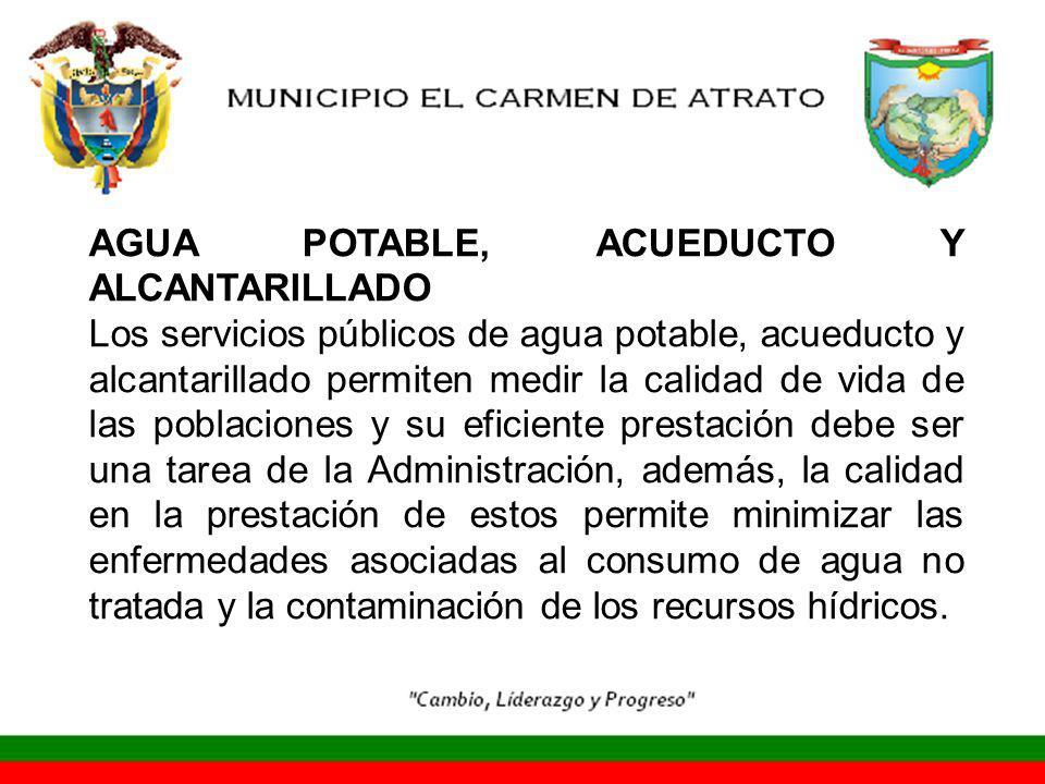 AGUA POTABLE, ACUEDUCTO Y ALCANTARILLADO