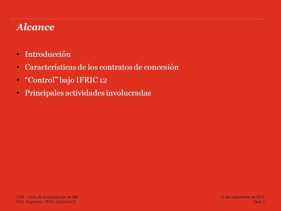 Alcance Introducción Características de los contratos de concesión