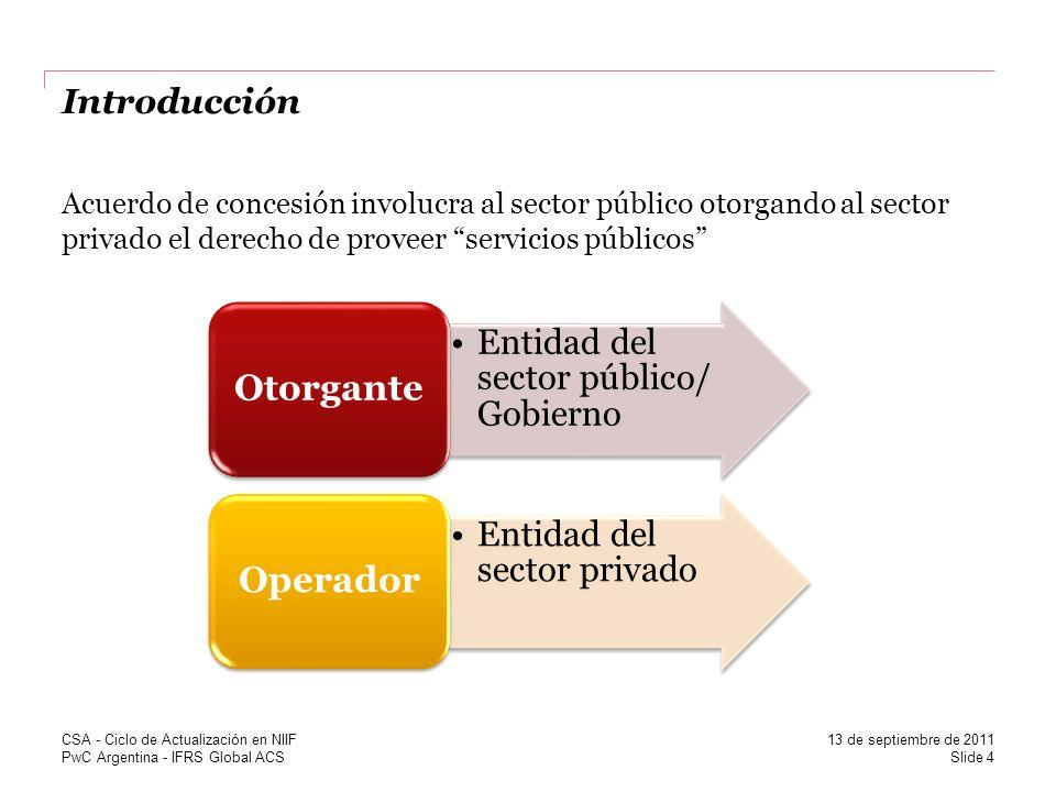Entidad del sector público/ Gobierno Entidad del sector privado