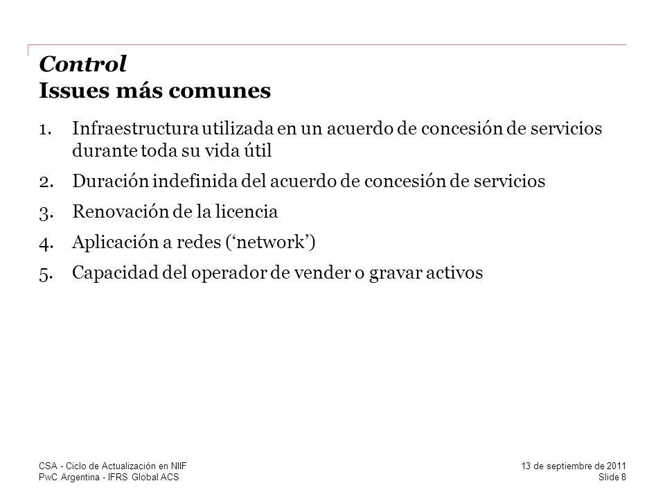 Control Issues más comunes