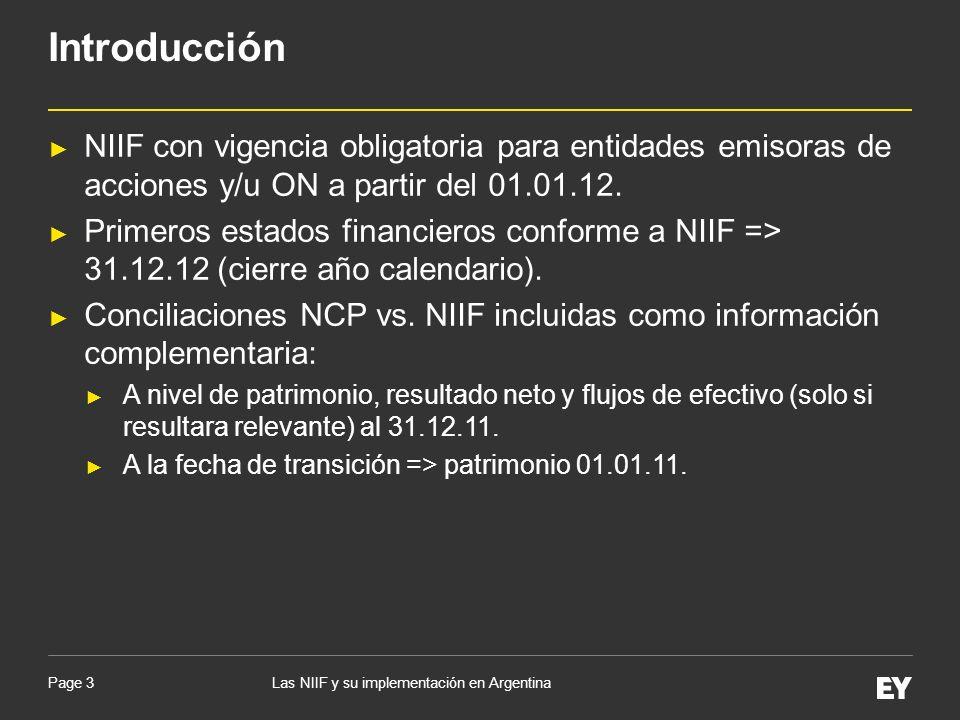 IntroducciónNIIF con vigencia obligatoria para entidades emisoras de acciones y/u ON a partir del 01.01.12.