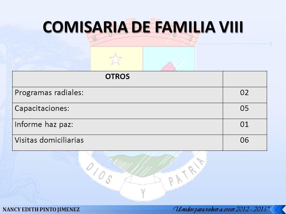 COMISARIA DE FAMILIA VIII