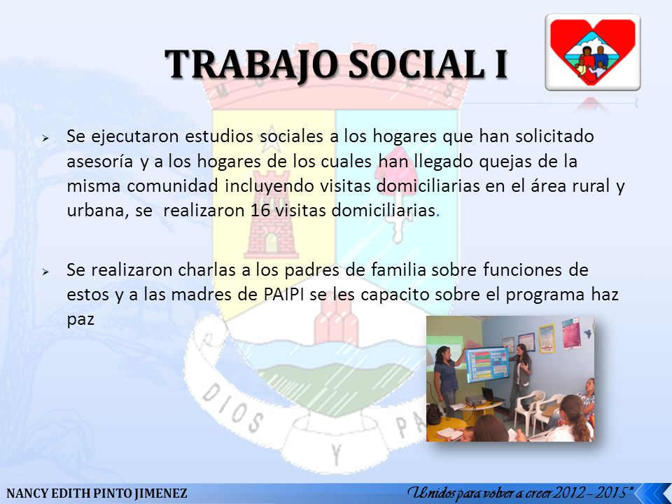 TRABAJO SOCIAL I