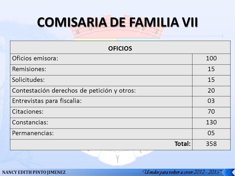 COMISARIA DE FAMILIA VII