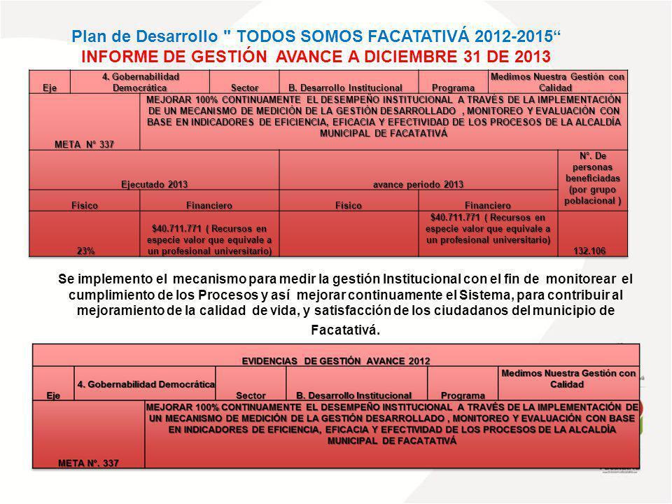 Plan de Desarrollo TODOS SOMOS FACATATIVÁ 2012-2015