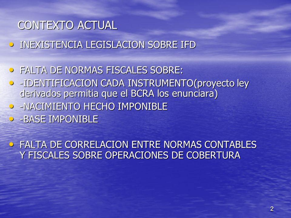 CONTEXTO ACTUAL INEXISTENCIA LEGISLACION SOBRE IFD