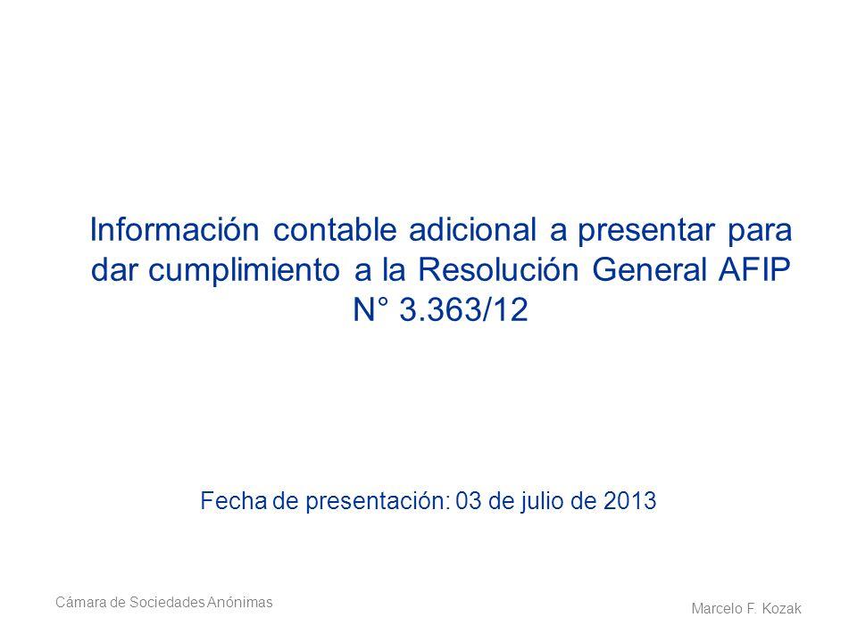 Fecha de presentación: 03 de julio de 2013