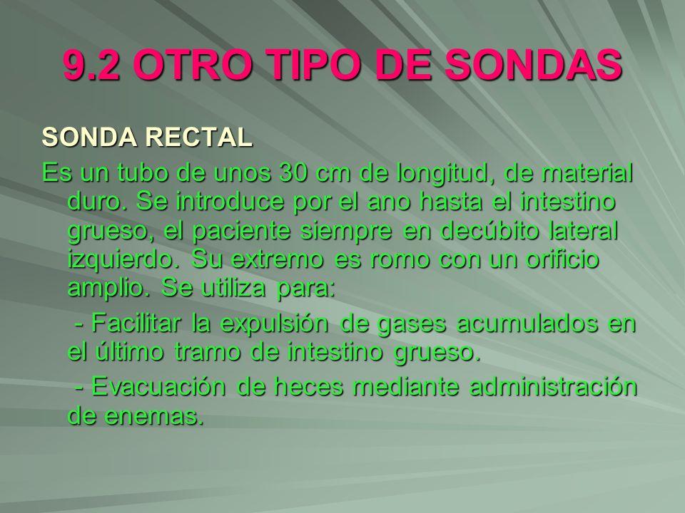 9.2 OTRO TIPO DE SONDAS SONDA RECTAL