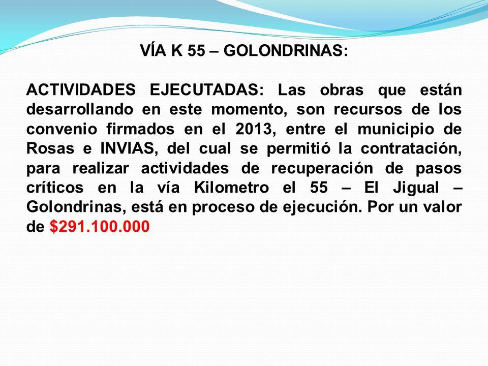 VÍA K 55 – GOLONDRINAS: