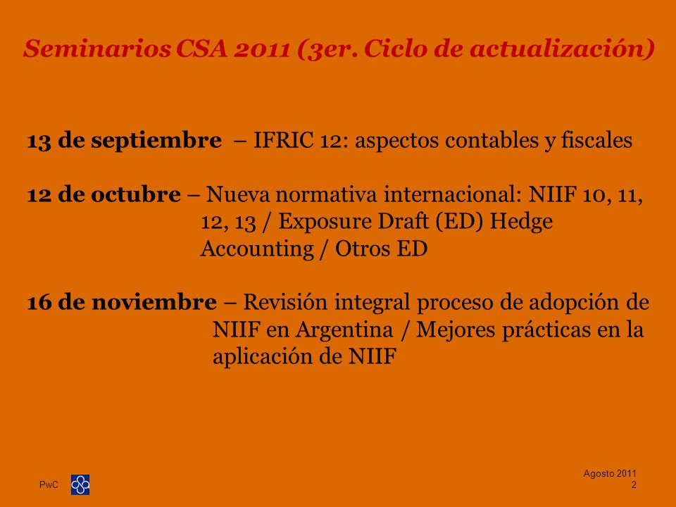 Seminarios CSA 2011 (3er. Ciclo de actualización)