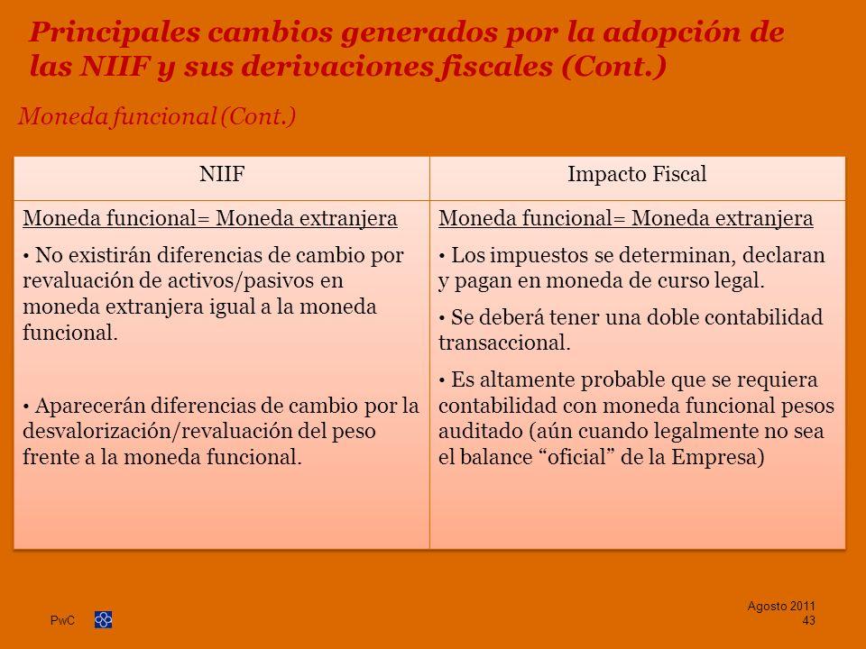 Moneda funcional (Cont.)
