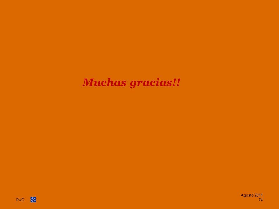 Muchas gracias!! Agosto 2011