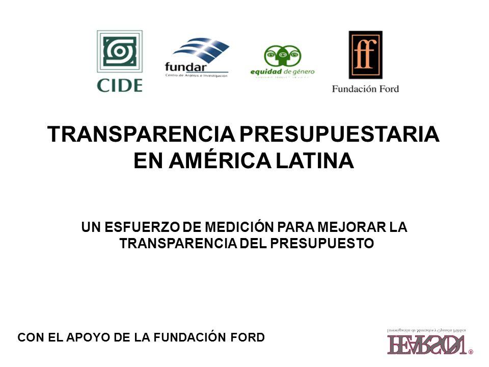 TRANSPARENCIA PRESUPUESTARIA EN AMÉRICA LATINA