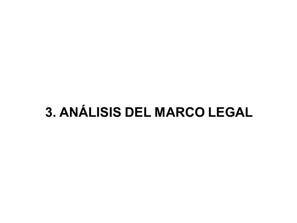 3. ANÁLISIS DEL MARCO LEGAL