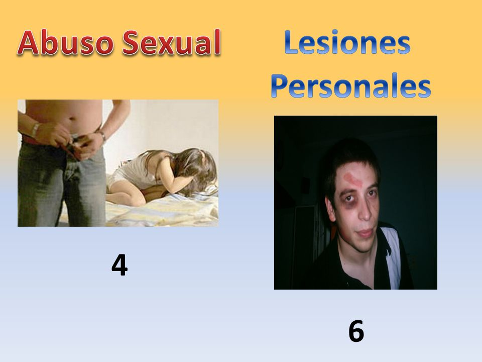 Abuso Sexual Lesiones Personales