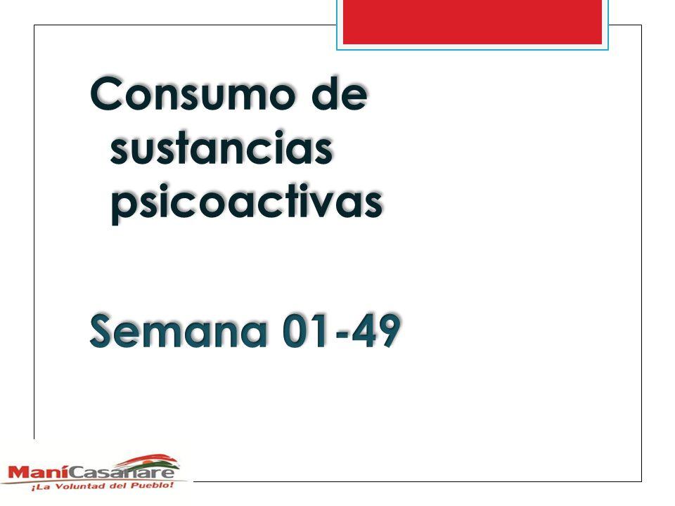 Consumo de sustancias psicoactivas Semana 01-49