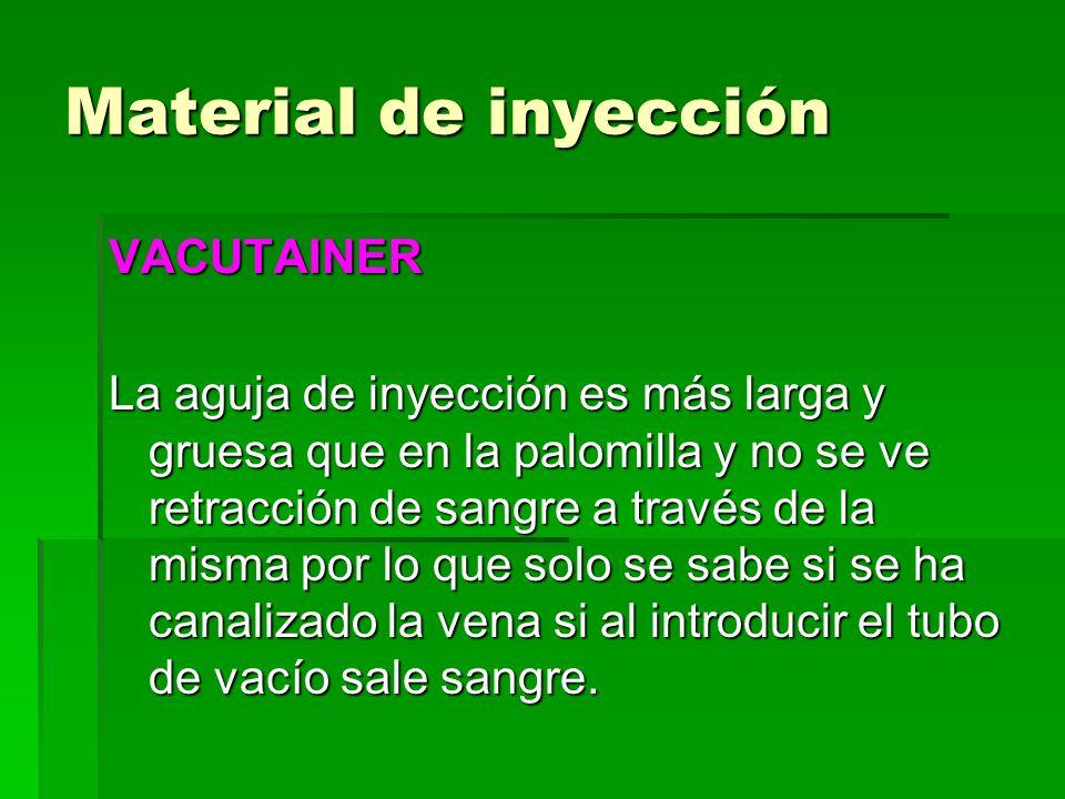 Material de inyección VACUTAINER