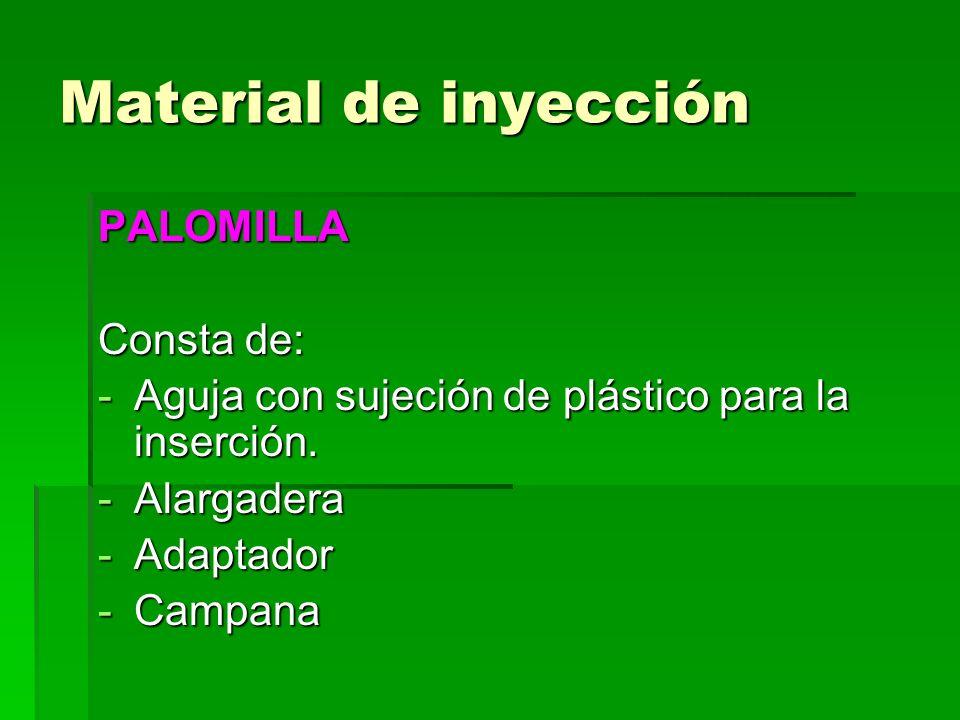 Material de inyección PALOMILLA Consta de: