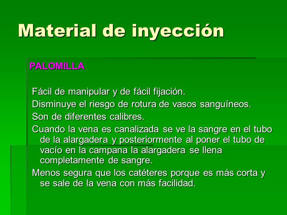 Material de inyección PALOMILLA