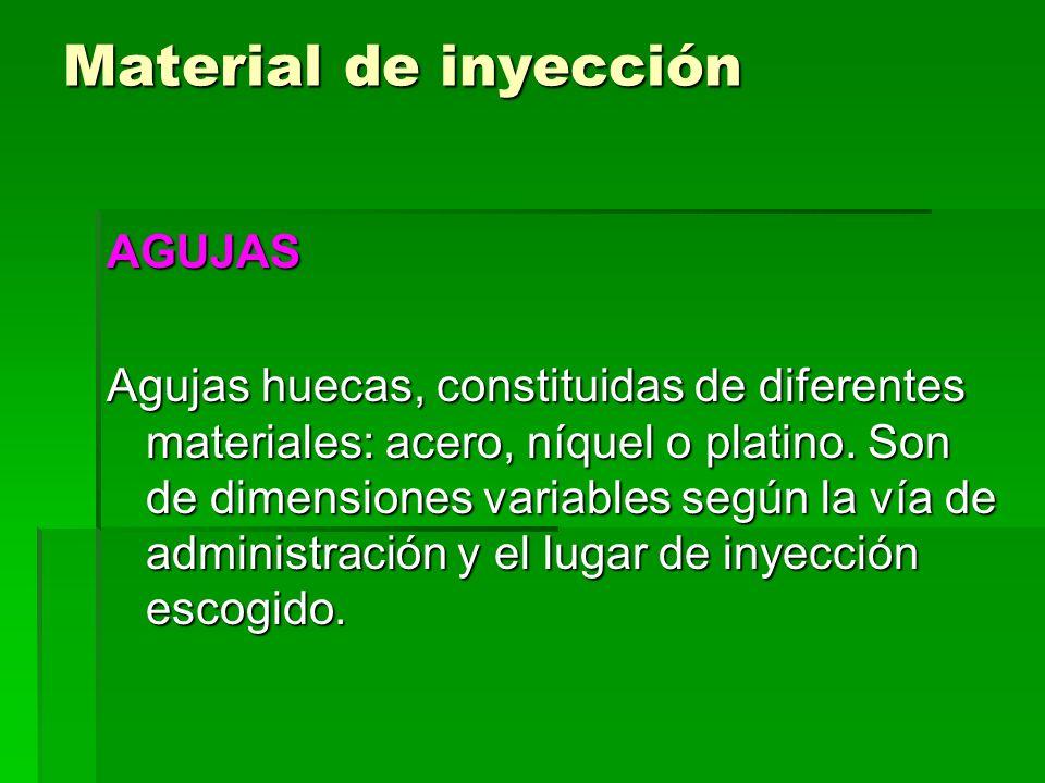 Material de inyección AGUJAS