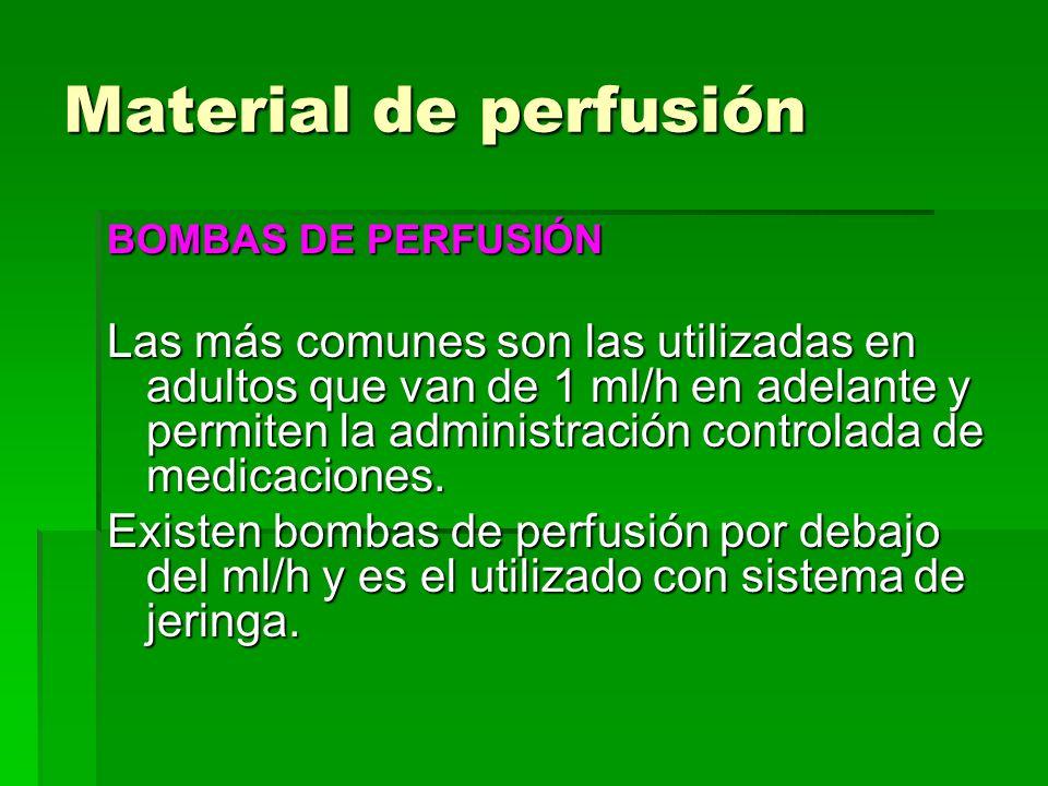 Material de perfusión BOMBAS DE PERFUSIÓN.