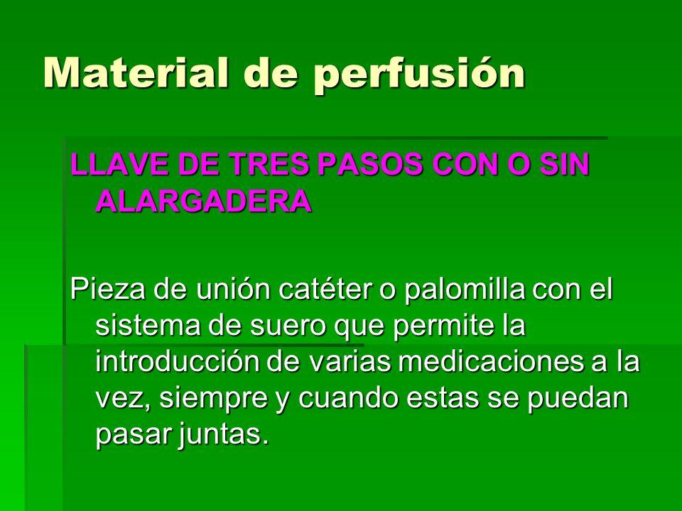 Material de perfusión LLAVE DE TRES PASOS CON O SIN ALARGADERA