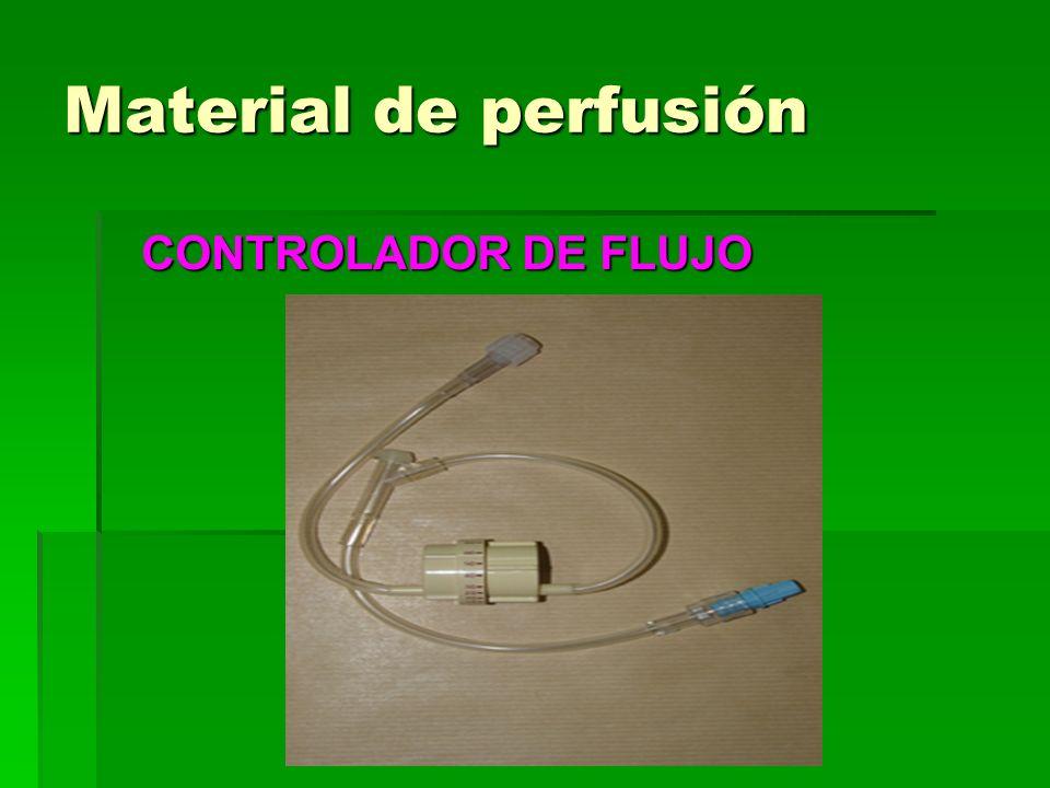 Material de perfusión CONTROLADOR DE FLUJO