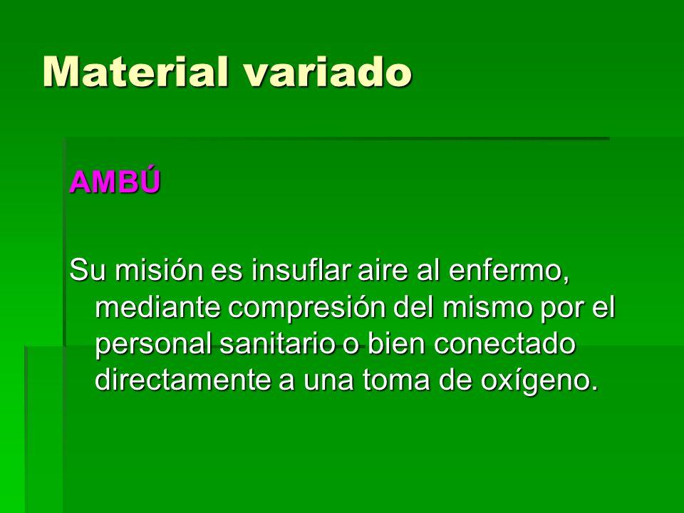 Material variado AMBÚ.